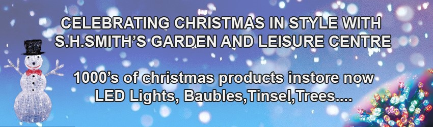Our biggest ever range of Christmas decorations and lights are on sale now.  Buy on-line or in-store to take home today!