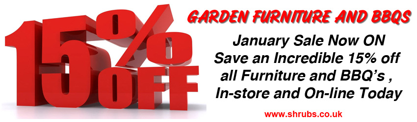 Garden furniture and barbecue sale NOW ON!  Buy in-store and on-line...