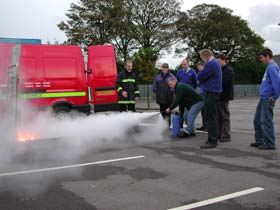 Fire Training in progress...